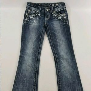 Miss Me Jeans - Womens Miss Me Buckle Thick Stitch Stretch Slim Bo